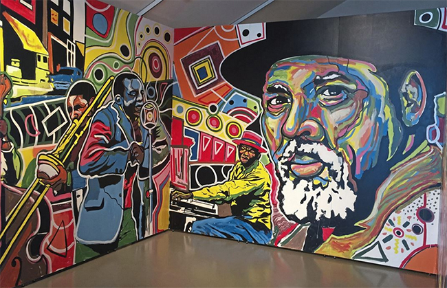 Mural pays tribute to August Wilson as the center that bears his name readies for 'next phase'