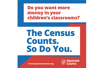 Text in image: Do you want more money in your children's classrooms? The census counts. Do do you.