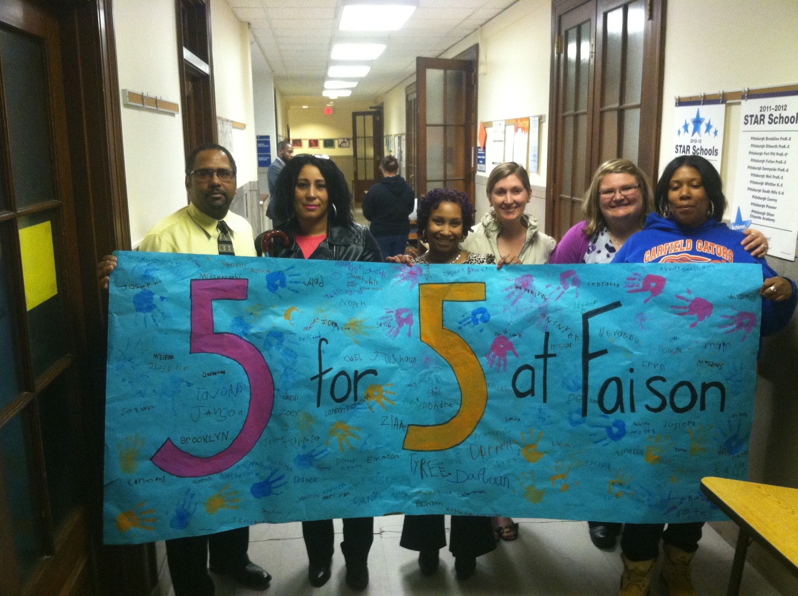Parents from Pittsburgh Faison advocate for 5 teachers for 5 classes of Kindergarten and First Grade at the Board last night.